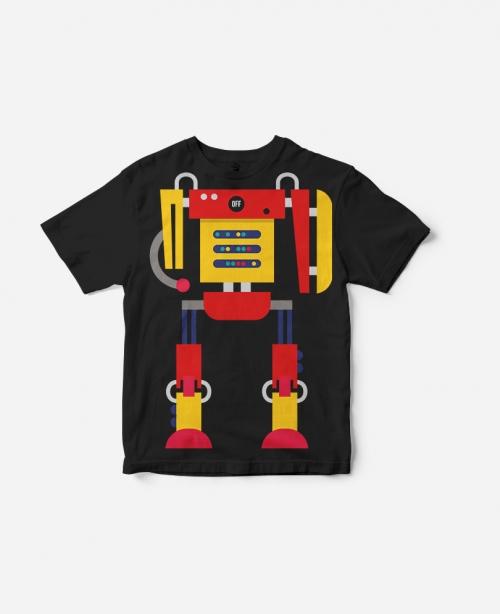 T-Shirt Robot Black