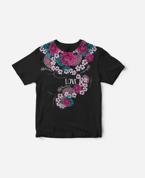 T-Shirt Peonia Black