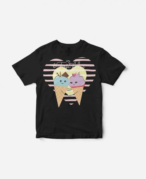 T-Shirt Ice Cream Black